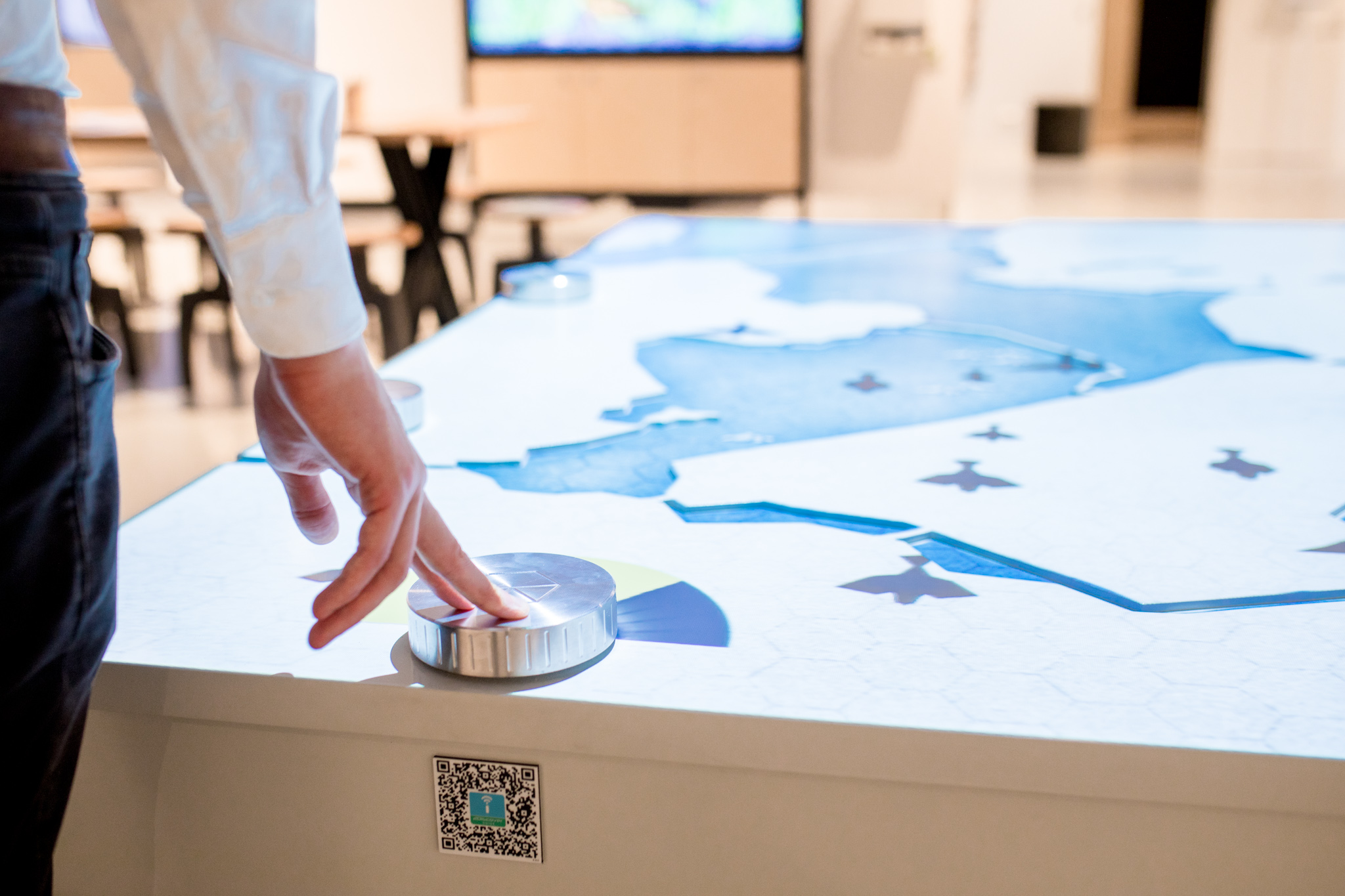 Afsluitdijk Wadden Center - IJsselmeer Interactive Table